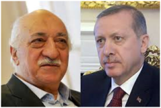 Gulen (l) vs Erdogan (r)